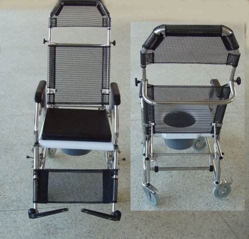 Reclining Shower Commode Wheelchairs
